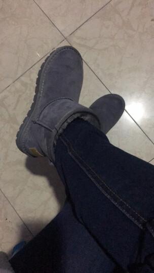 骆驼(CAMEL)女鞋中筒加厚短靴简约保暖舒适平底雪地靴 A84275627粉色 36 晒单图