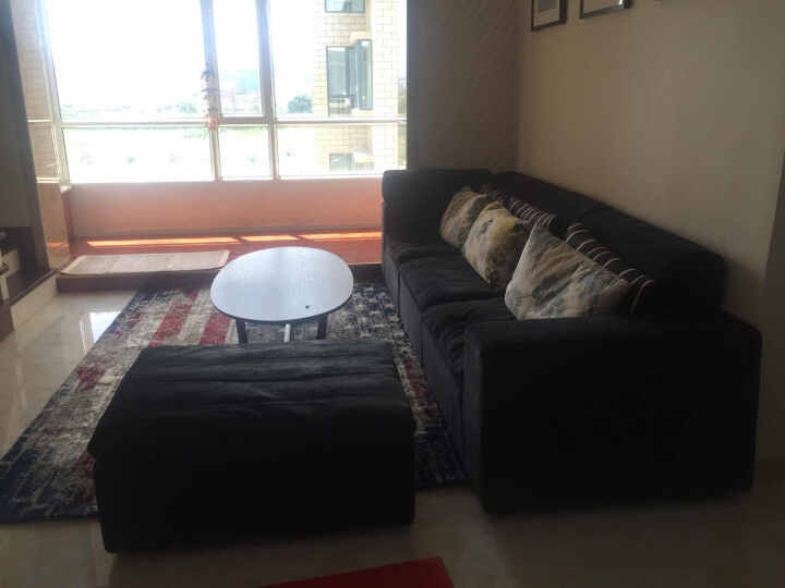客厅地毯 简约现代加厚茶几地毯地垫 卧室床边毯 玄关垫 国桶机 6997D-2 1600MMx2300MM 晒单图