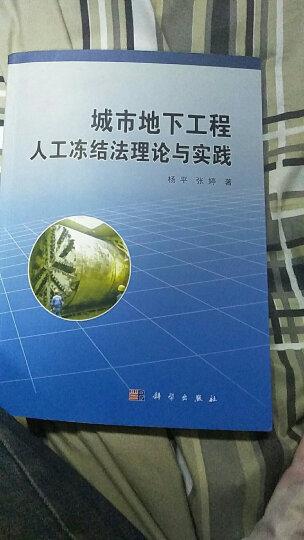 城市地下工程人工冻结法理论与实践 晒单图