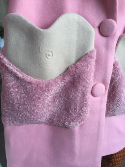 美婷玲童装冬季女童外套呢子大衣儿童冬装韩版中大童中长款毛呢上衣 68卡其 160(建议身高150-155) 晒单图