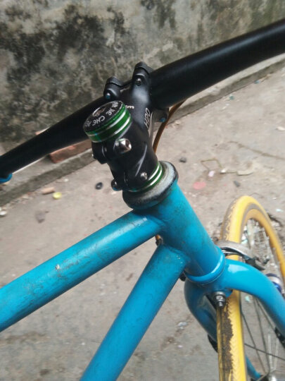 dex 自行车前叉垫圈增高彩色碗组山地车死飞5mm把立10垫片垫环28.6 10mm/镶边蓝 晒单图
