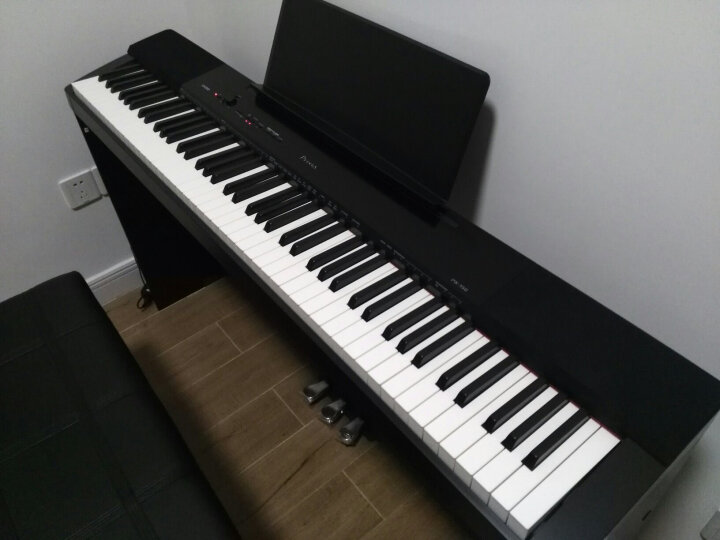 正品卡西欧(CASIO) 卡西欧电钢琴 88键重锤旗舰电钢琴PX160 成人初学电子智能数码钢琴 PX-160黑主机+双X架+双人凳礼包 晒单图