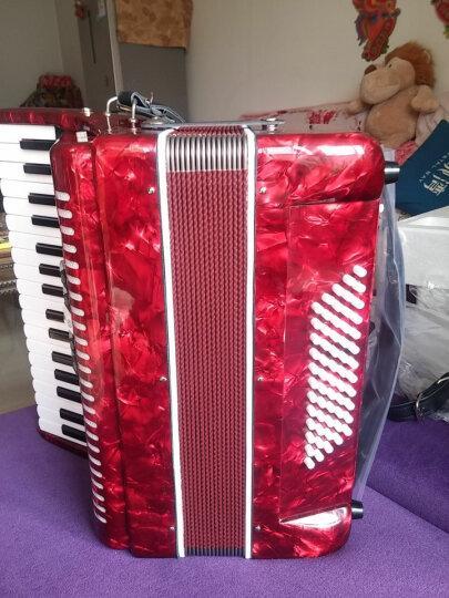 MARGEWATE 麦格维特 手风琴乐器60贝司34键 5变音 厂家直销进口簧片成人初学 红色 晒单图