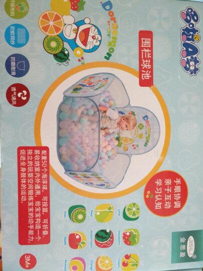哆啦A梦 儿童海洋球池 水果投篮围栏球池 儿童健身玩具 配50个海洋球彩盒装 蓝色 晒单图