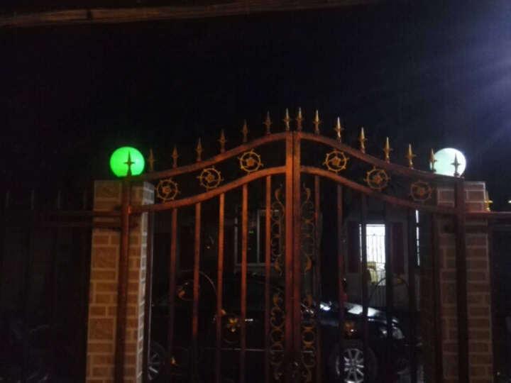 太阳能灯 庭院灯 户外圆球形大门围墙柱头灯 别墅花园露天阳台柱子装饰灯 室外防水led路灯 30cm-带遥控-七彩草坪灯 晒单图