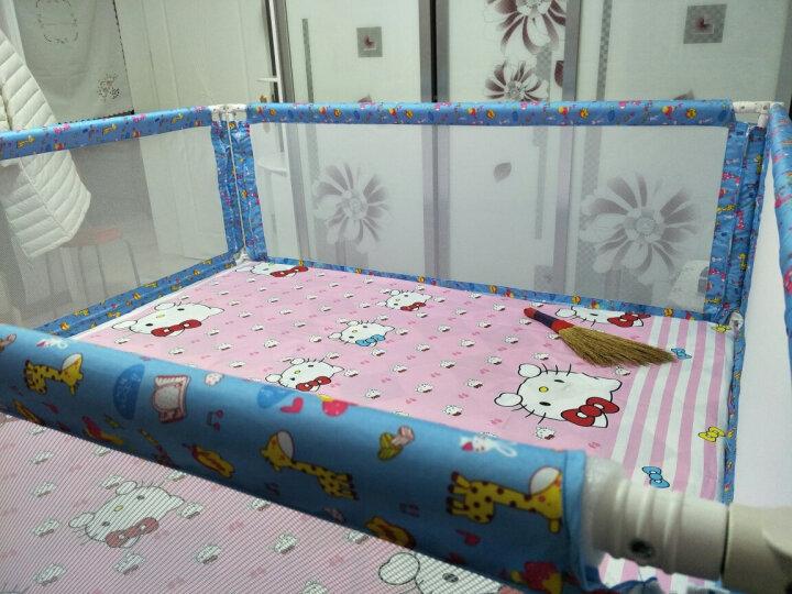 萌宝(Cutebaby) 婴儿童床护栏宝宝床护栏防护栏挡板安全围栏 蓝色三面 1.8*2.0米床垫适用 晒单图