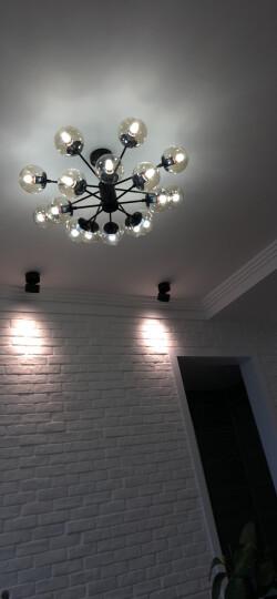 璀璨一生 吊灯客厅灯北欧全屋成套灯具套餐现代美式简约卧室餐厅灯组合现代铁艺书房灯具 6头奶白灯罩 暖光 晒单图
