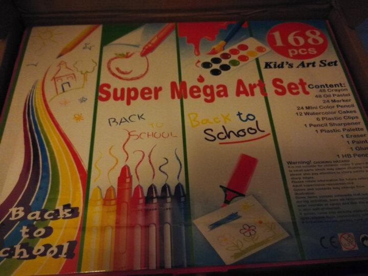 儿童画笔DIY卡通新公主儿童礼物绘画礼盒文具学生水彩笔儿童无毒绘画涂鸦彩色笔宝 150件蓝色 晒单图