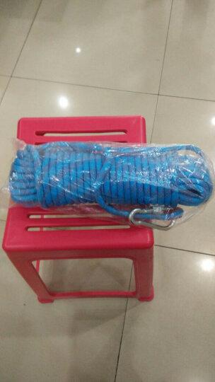 户外登山绳攀岩绳静力绳子 50米蓝色(直径10mm+2钢扣) 晒单图