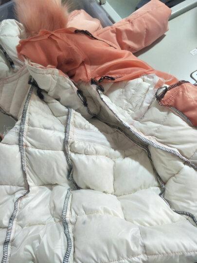 羽绒服女2017年冬季新款韩版女装防寒大毛领学生修身加厚中长款轻薄羽绒衣女士外套 黑色 S 晒单图