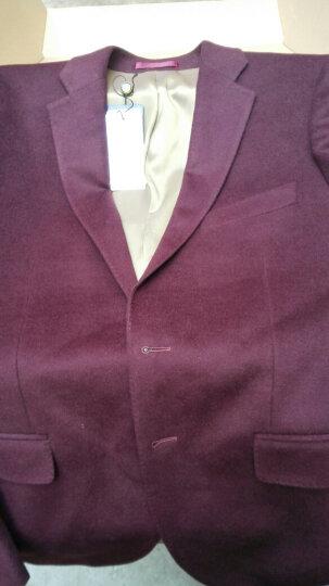 金利来男士羊毛混纺保暖有型商务西装西服外套 95藏蓝 54B 晒单图