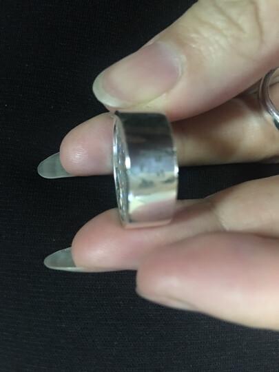私人订制定做肖像925银饰情侣戒指 男女对戒个性创意签名指纹名字刻字 定制肖像戒指一个 晒单图