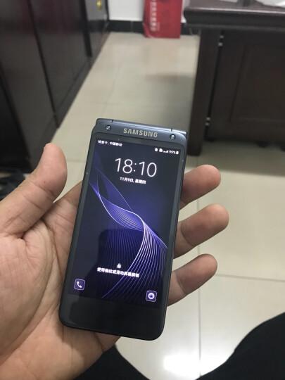 三星(SAMSUNG) W2017 翻盖智能商务手机 双卡双待 电信4G 尊崇黑 (4GRAM+64GROM) 晒单图
