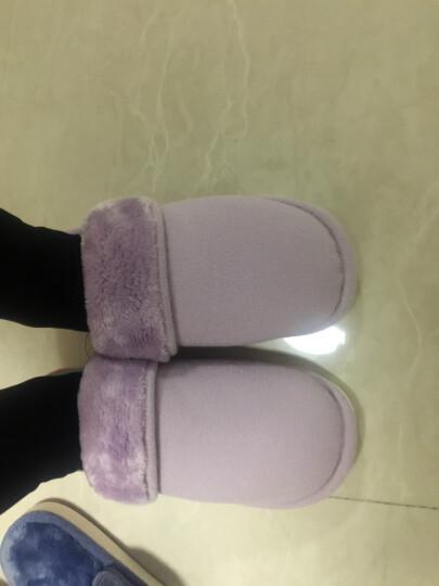 名创优品(MINISO)情侣家居棉拖鞋 简约舒适 法拉绒 保暖吸湿防滑家居半包拖鞋男女鞋 太空灰 43-44 晒单图