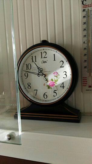 康巴丝(Compas)挂钟古典欧式座钟表复古静音客厅装饰台钟创意卧室床头时钟石英钟 3020罗马盘象牙白 晒单图