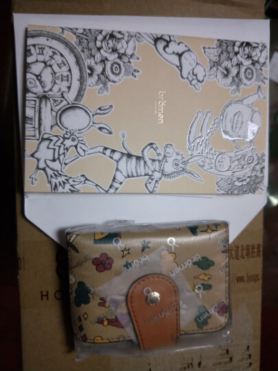 不莱玫  印花原创卡包可爱多卡位卡片包小版 地图色  小版 晒单图