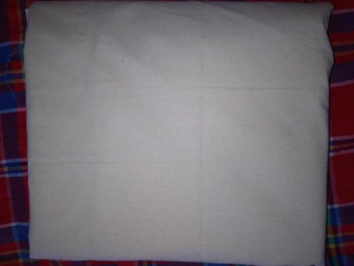 白布涤棉纯棉白坯布立裁白胚布全棉画布涂鸦扎染蜡染纯棉布料孝布 涤纶 1.2米宽 薄款中密 偏青 晒单图