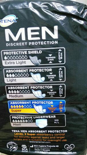添宁TENA 欧洲进口 轻失禁 量多型 男士专用私处护理卫生护垫三角式纸尿片16片 晒单图