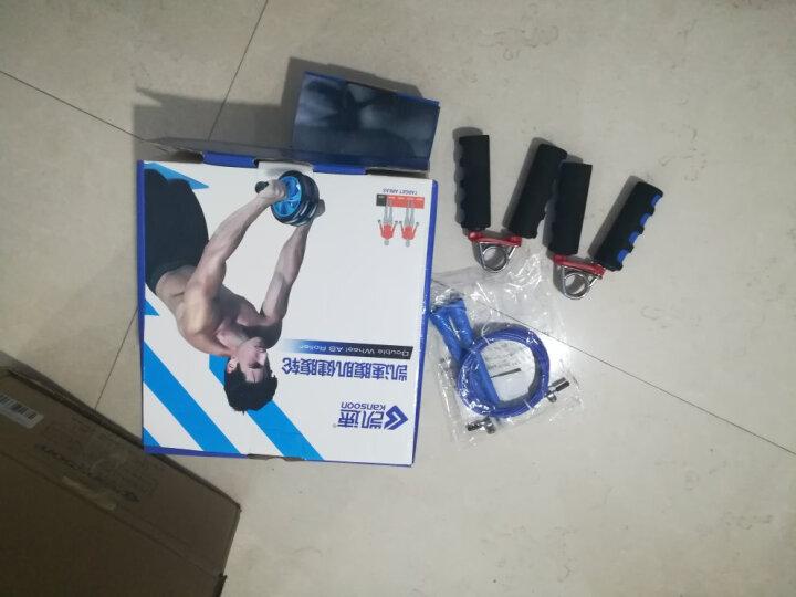 凯速KANSOON健身套装双轮健腹轮跳绳40KG臂力器臂力棒握力器两用拉力器五件套蓝色 晒单图