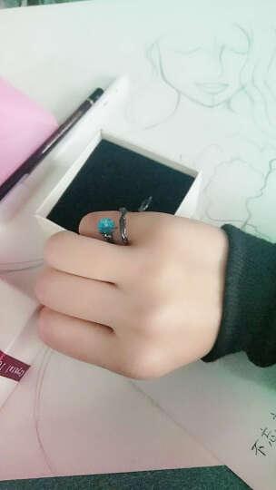 韩版欧美流行S925纯银开口情侣戒指时尚个性男戒指 棱爱戒指个性潮饰品 男款(S925银) 晒单图