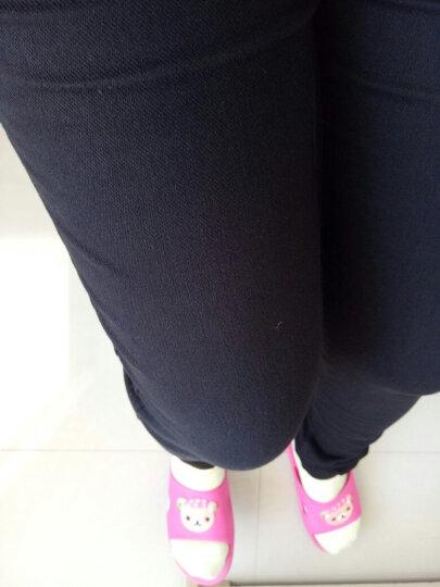 茵曼女裤简约纯色松紧腰百搭打底裤假口袋紧身裤女【1861360104】 珍珠白. M 晒单图