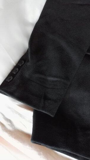 步绅狼 毛呢大衣男外套2018秋冬新款男士中长款呢子中青年西装风衣 黑色加棉加厚 XXL 晒单图