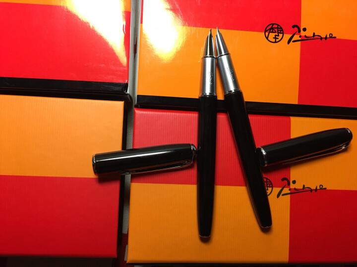 毕加索(pimio)916钢笔美工笔弯头弯尖硬笔书法钢笔男女士练字成人学生用礼盒装可刻字笔 1.0mm707黑金夹美工笔弯尖 晒单图