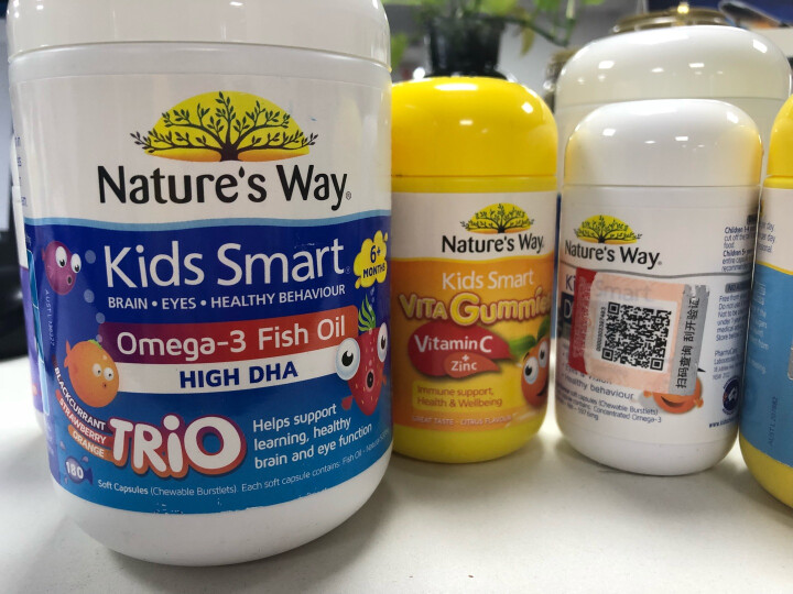 佳思敏nature's way复合维生素儿童维生素C+锌软糖补锌 澳洲进口60粒/瓶  晒单图