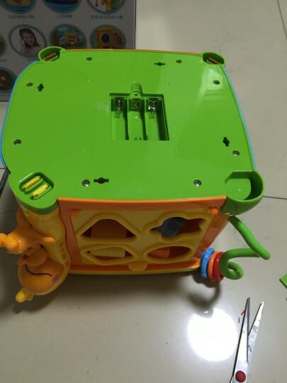 谷雨六面盒玩具1-3岁儿童音乐手拍鼓宝宝拍拍鼓多功能多面体益智玩具婴儿0-1岁幼儿3-6-12个月 优惠套装:谷雨探索6面盒+波比熊故事机(蓝色) 晒单图