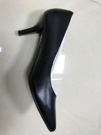 莱尔斯丹 2019春夏新款细高跟鞋职业套脚女鞋尖头高跟鞋LS AM65001/8T65001 粉红色漆皮(8T) PNP 37 晒单图