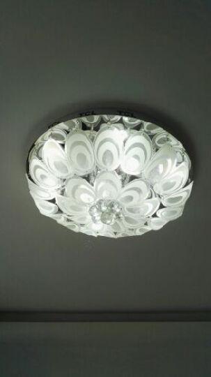 TCL客厅灯圆形水晶灯LED吸顶灯卧室灯现代简约大气1016 直径80厘米分段遥控版 晒单图