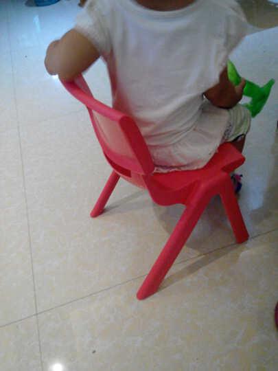 育才 环保塑料宝宝椅子 靠背椅 幼儿园专用儿童学习桌椅 加厚 大人46cm高 晒单图