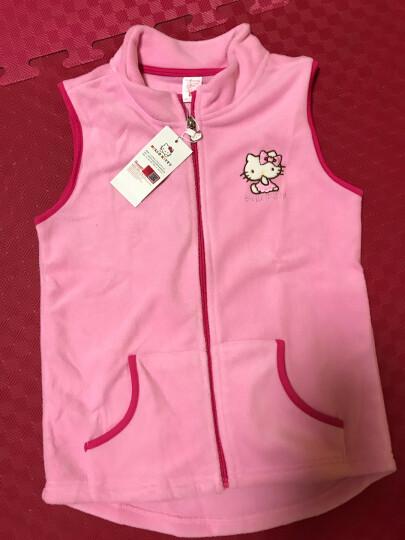 凯蒂猫(HELLOKITTY)女童马甲背心摇粒绒宝宝开衫拉链新儿童坎肩马夹KT7005粉色140cm 晒单图