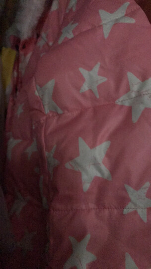 韦氏羽绒服女童中长款加厚连帽儿童羽绒服冬季羽绒86064橙黄色150 晒单图