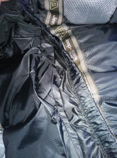 吉普羽绒服男中长款加厚中老年中年可脱御内胆连帽可脱2017男装冬季加大码 卡其色 XL/185 晒单图