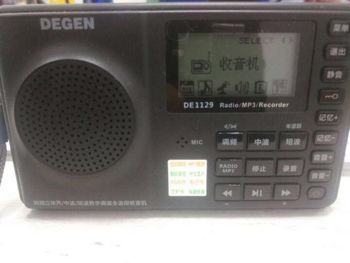 德劲(DEGEN) Degen/德劲 de1129 4G收音机老人全波段插卡MP3录音笔播放器音响 标配+锂电池 晒单图