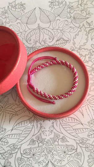 如怡(Rooyoor) 如怡 手工编织玉米结红绳手链男女款手绳 本命年新年礼品红色彩色 粉色系玉米结 晒单图