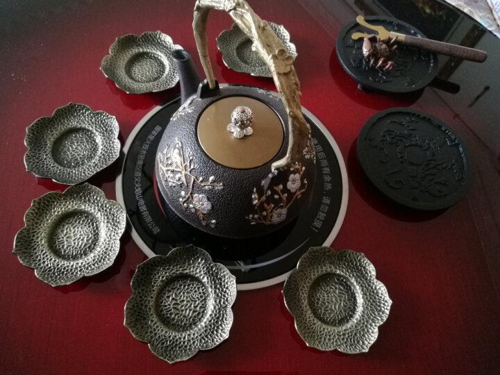 宏品(MAC-GRA) 特价包邮合金纯手工铜杯托 茶托合金杯垫茶垫 日本锡杯托 茶席茶道 红铜太阳花 晒单图