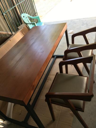 卿溪(QINGXI) 新铁LOFT北欧实木餐桌复古做旧办公桌美式桌书餐厅餐馆桌子铁艺餐桌 200*80*75CM 桌面8CM 晒单图