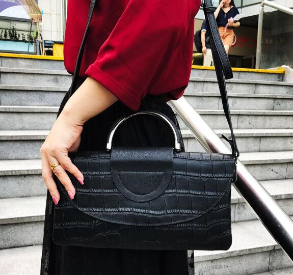 夏茉手提包女手拿包 手包2019新款时尚气质小方包夏季个性迷你宴会潮包 链条包女士单肩包 C50-黑色 晒单图