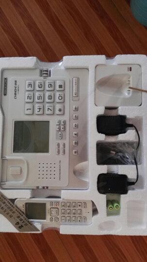 中诺(CHINO-E)H802 固定电话机无绳座式子母机一拖一家用办公室无线座机 珠光白 晒单图