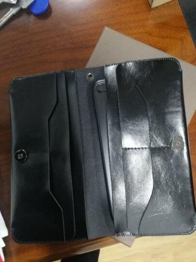 YOCY钱包卡包手机壳保护皮套双机收纳包华为Mate20proP30三星S10+苹果XSMAXR通用 黑色 晒单图