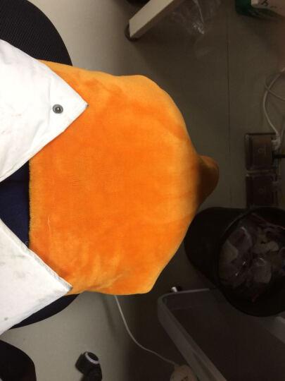 南极人护膝毯 加热毛绒毯发热垫暖身毯护肩暖腰电暖坐垫办公室护腿毯子单人小电热毯电褥 双面绒可水洗45*80cm【深蓝+橙色】 晒单图