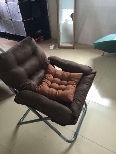 蒂利仕 豪华单人懒人沙发折叠椅子躺椅午休午睡椅办公室床休闲椅靠背椅子靠椅躺椅桌椅 豪华沙发椅 咖啡色 晒单图