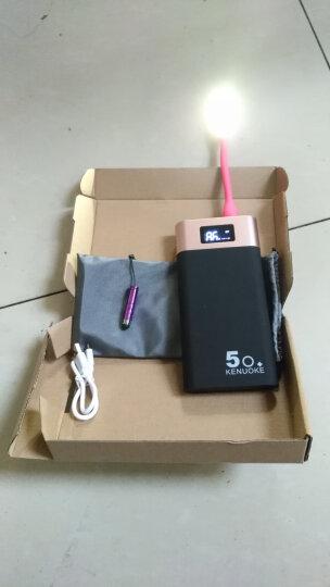 手机充电宝超薄vivo苹果8X华为OPPOR11小米快充移动电源20000毫安 睿智黑(高清显示屏)送豪礼 晒单图