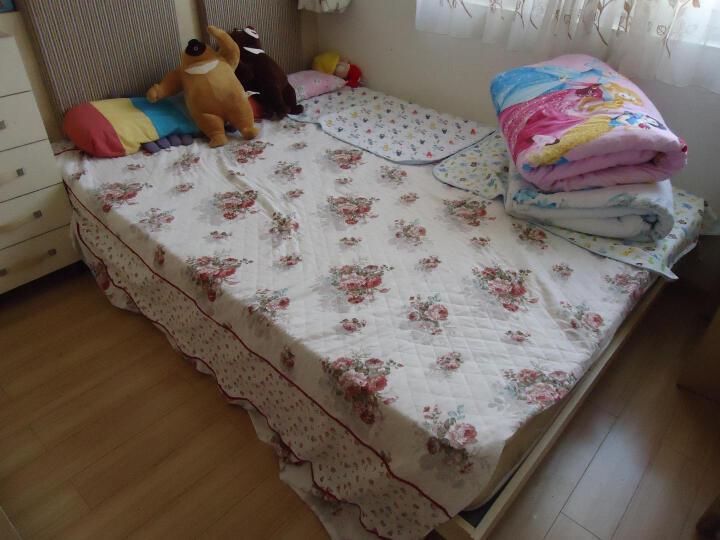 天黑黑家纺 全纯棉加厚床单单件床笠床裙床罩床垫罩套 浪漫雅致-红 180*200cm 晒单图