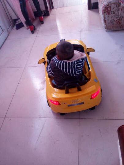 贝瑞佳(BeRica)奥迪儿童电动车四轮遥控可坐人婴幼儿童汽车独立摇摆小孩宝宝玩具 【双驱】黄色++蓝牙遥控+音乐早教+360度摇摆 晒单图