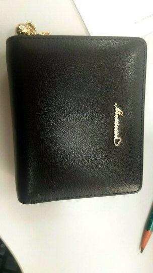 稻草人(MEXICAN)钱包 女短款牛皮精致女士钱包折叠零钱包MYH20082L-10 黑色 晒单图