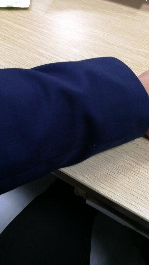 花花公子2017春季新款韩版修身 男士西服套装结婚礼服职业正装上班西服三件套男 藏青色两件套 3XL 晒单图