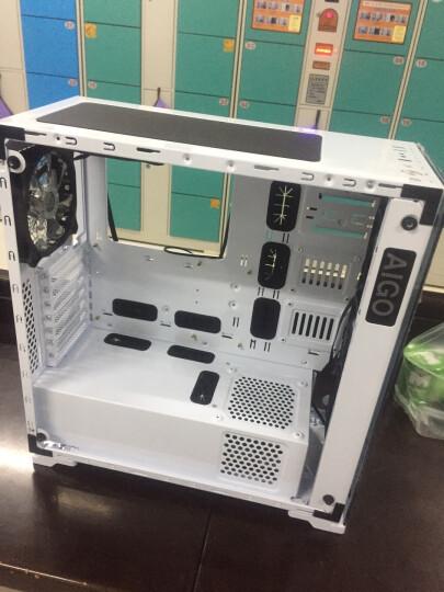 爱国者(aigo)月光宝盒X智能版 黑色 中塔式玻璃台式电脑机箱(手机APP控制/配3把RGB风扇) 晒单图